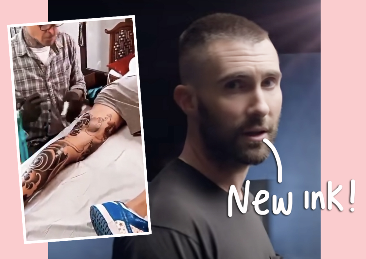 Adam Levine Flaunts MASSIVE New Leg Tattoo After Three-Day Process!