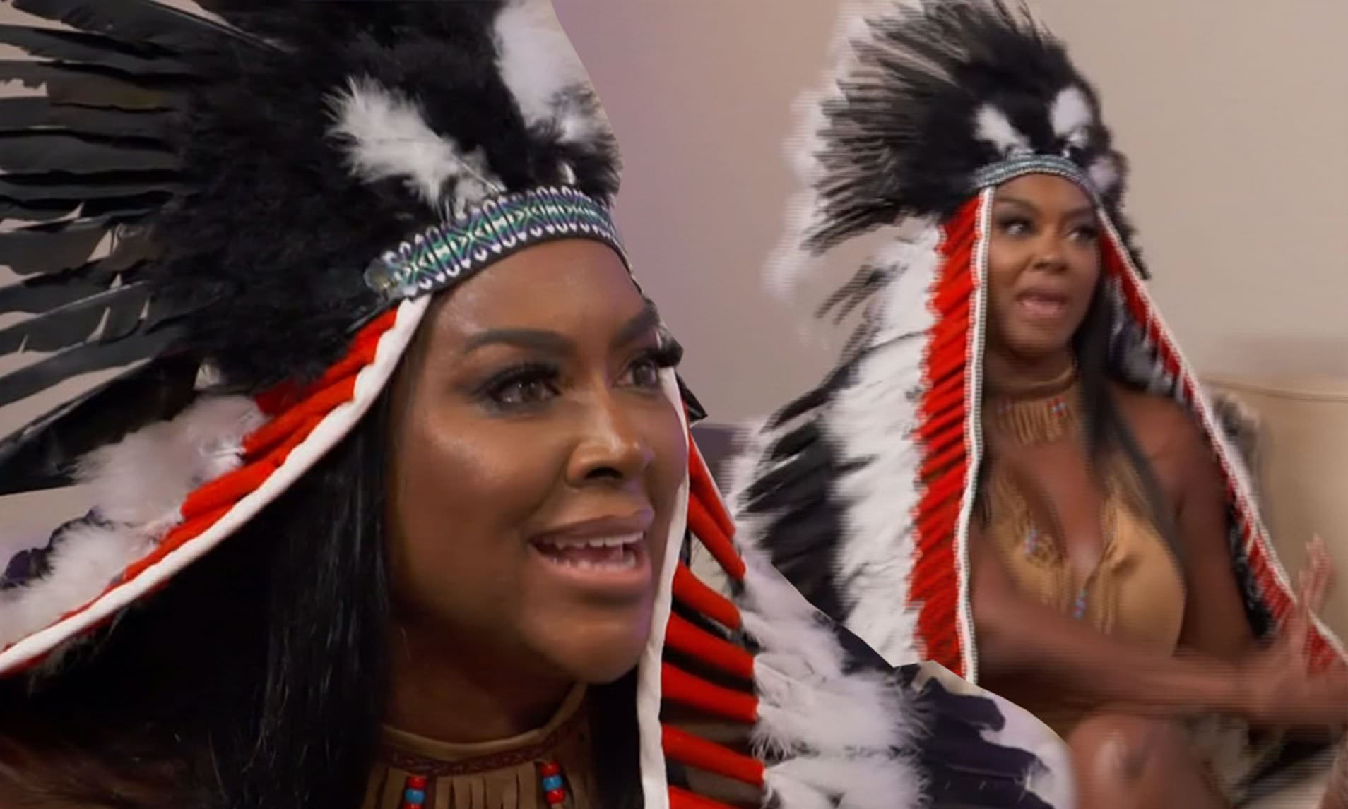 Kenya Moore Defends Herself After Wearing 'Problematic' Native American Halloween Costume