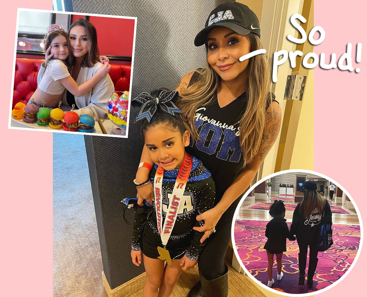 OMG! Snooki & JWoww Are Now Cheer Moms Together!