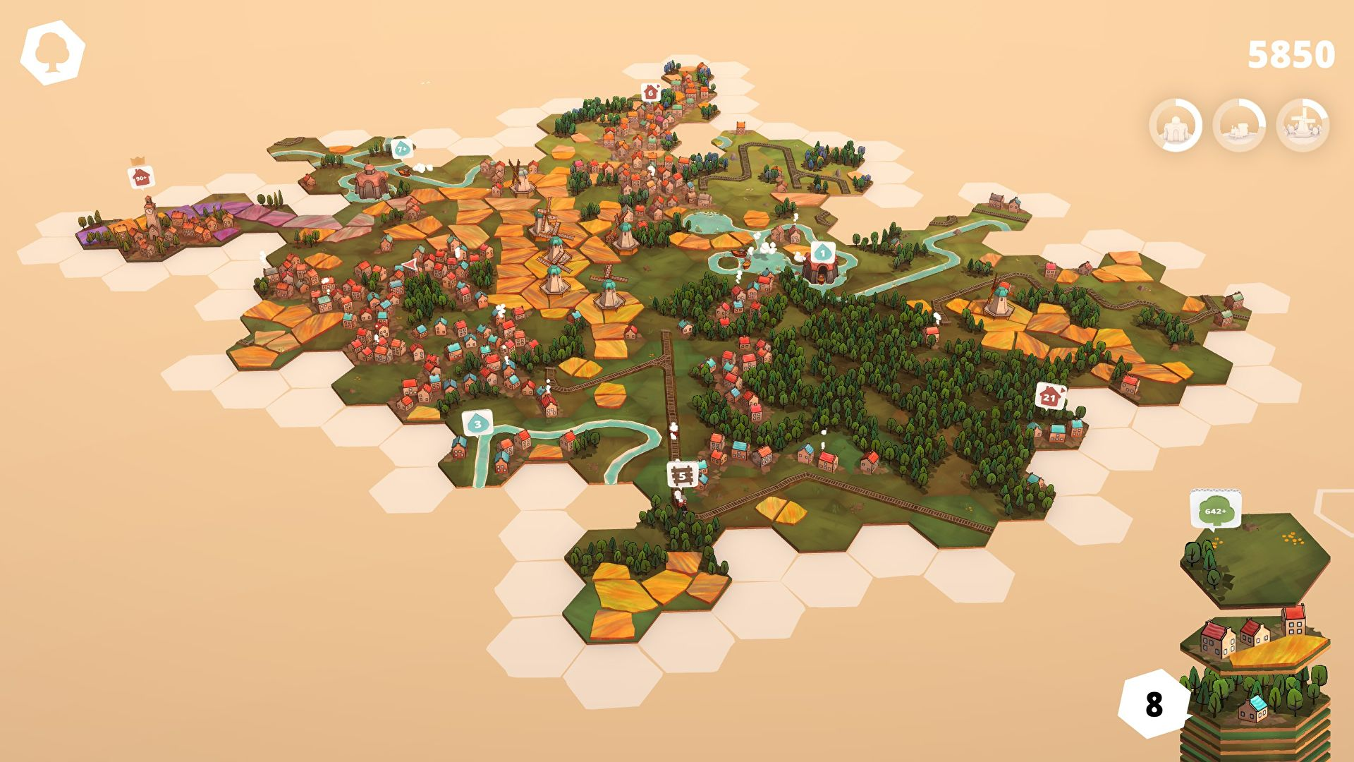 I can't stop playing tiny townbuilder Dorfromantik
