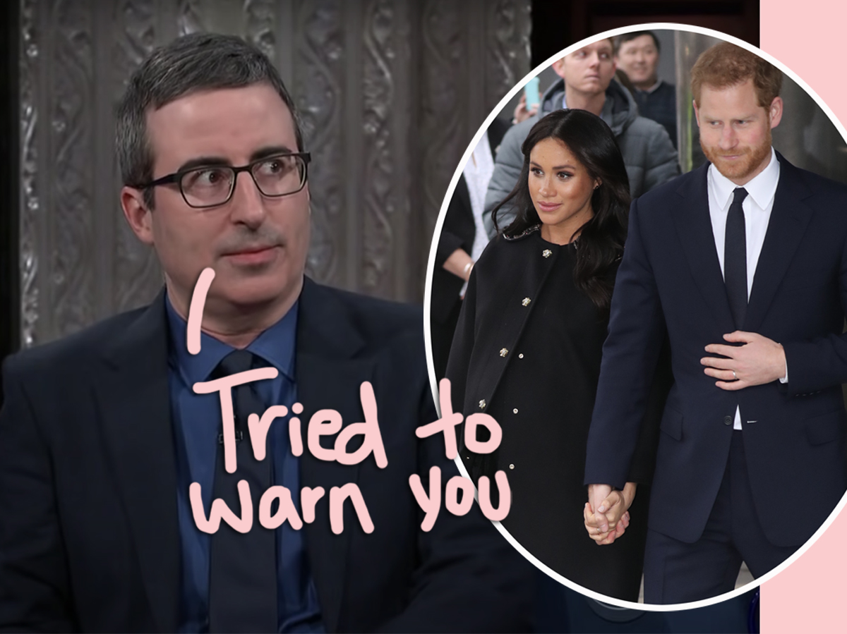 John Oliver Predicted 'Emotional Complications' For Meghan Markle Before Marrying Prince Harry In Resurfaced 2018 Interview!