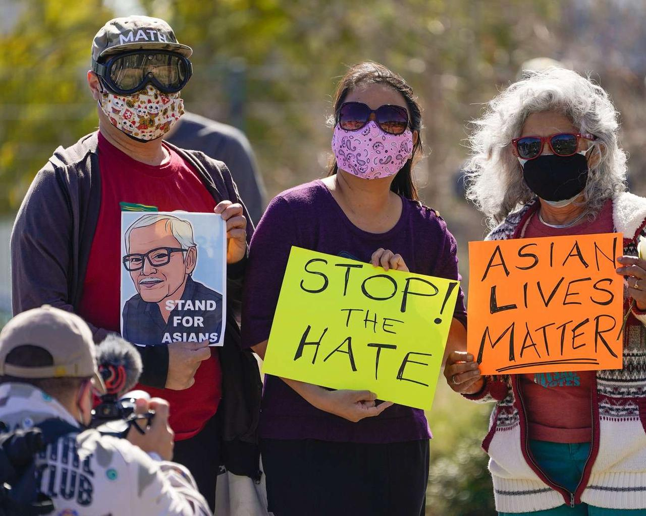'Hard time to be Asian,' says protest in Los Angeles rally to end Asian violence
