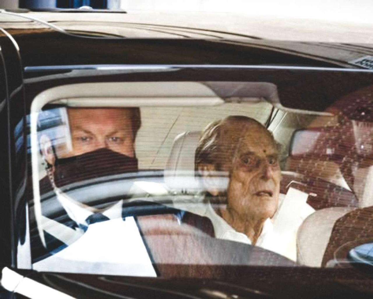 Elizabeth II's 99-year-old husband returned home after long-term treatment.