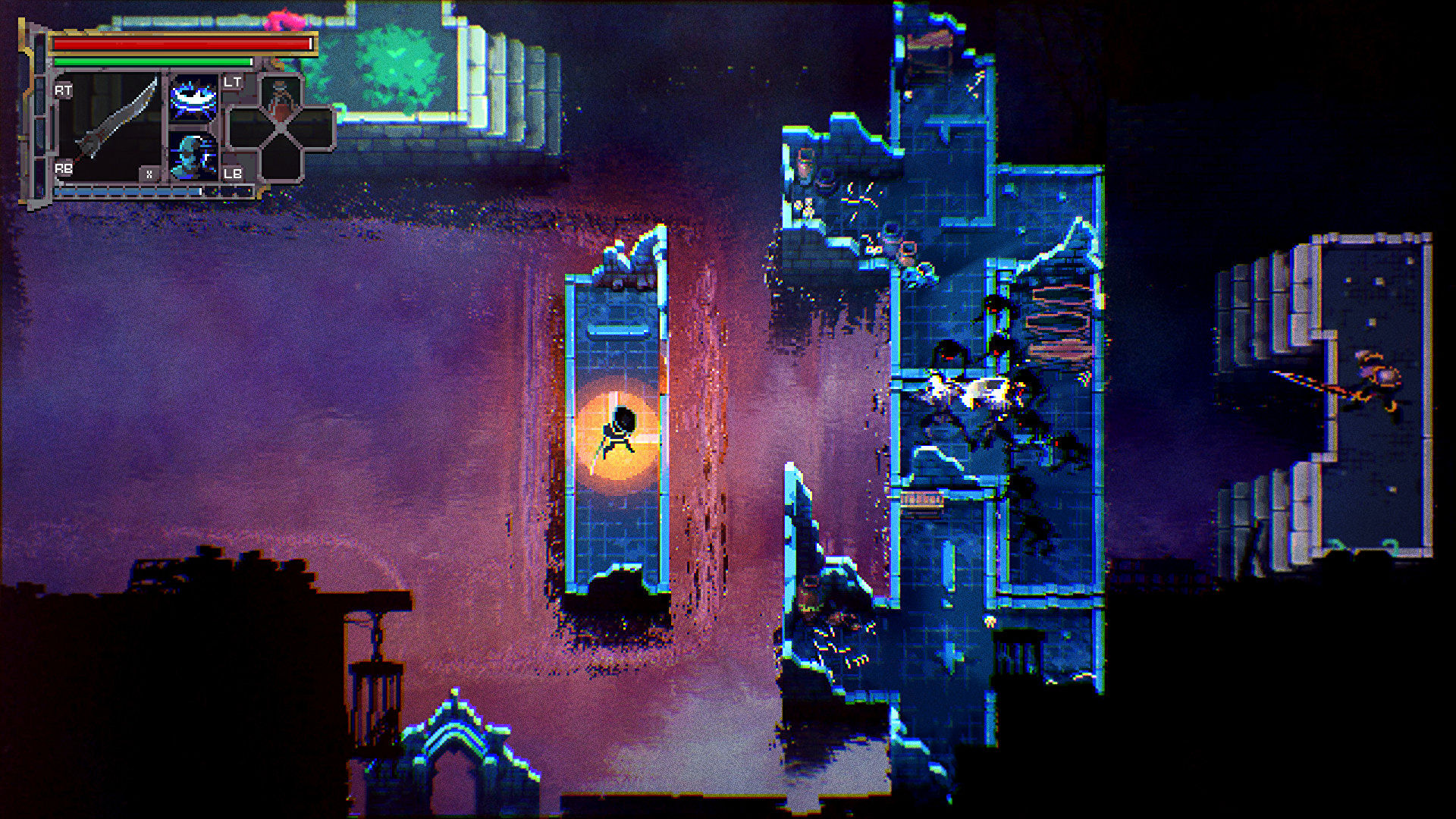Loot River is a hack-and-slash RPG set within a Tetris dungeon