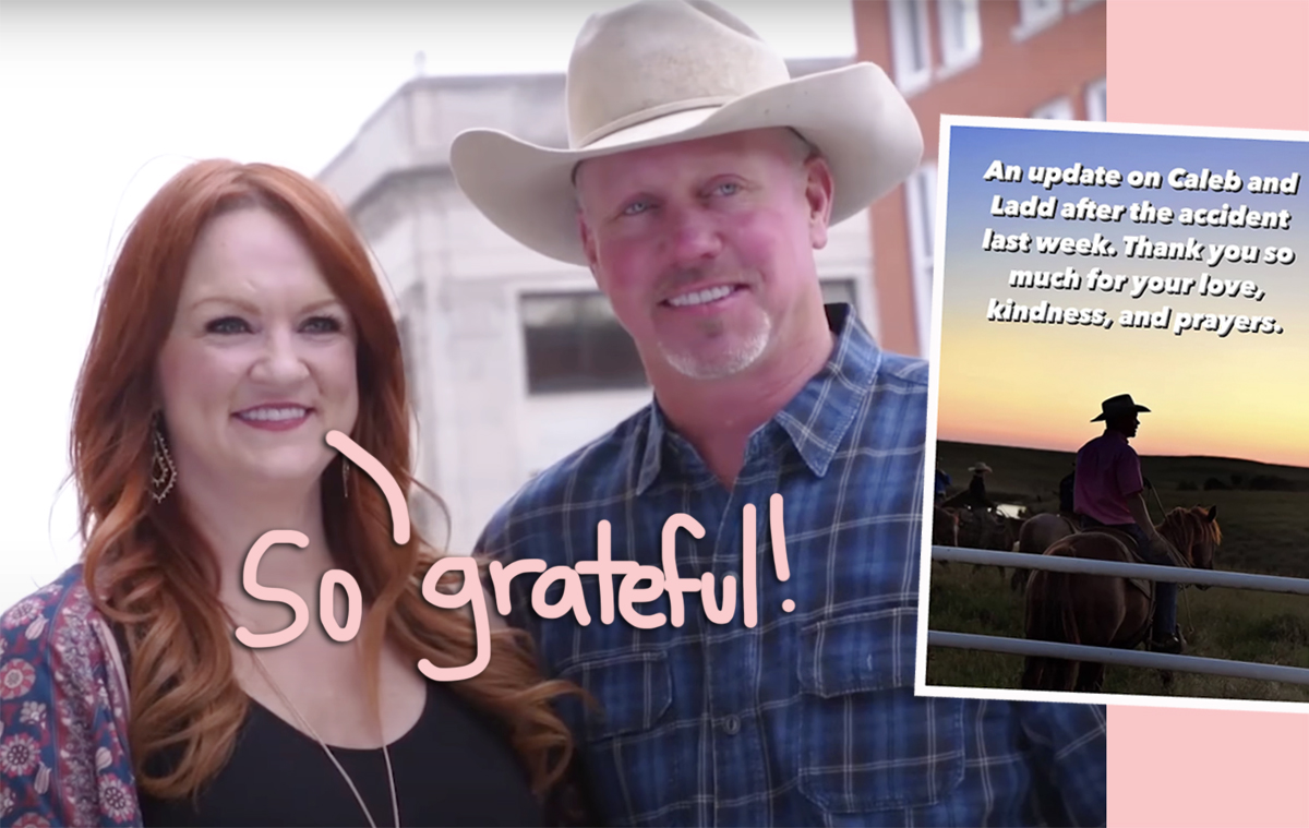 Ree Drummond Reveals Husband Ladd Broke His Neck TWO Places During Ranch Collision & Gives An Update On Her Nephew
