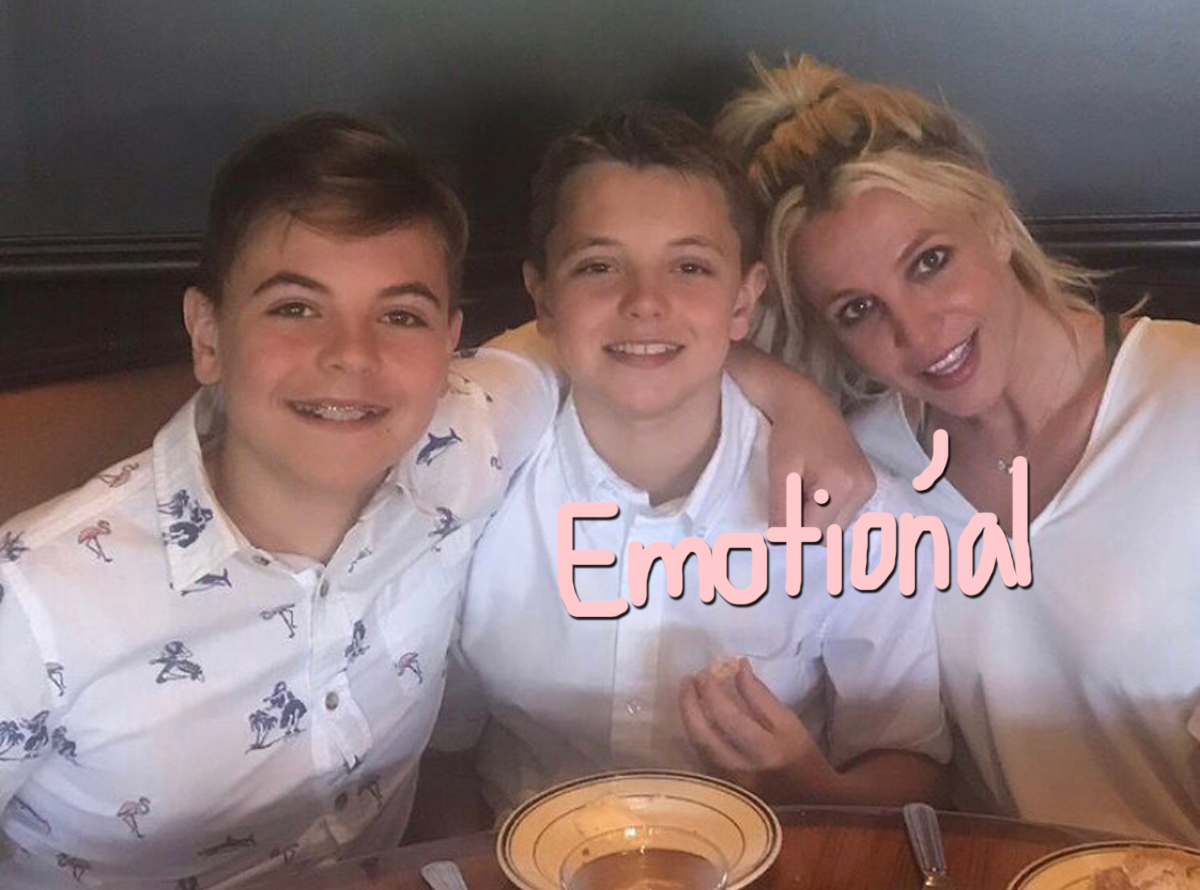Britney Spears Says 'It's OK To Cry' As She Sees Her Sons 'Less' Since Physical Altercation With Jamie Spears