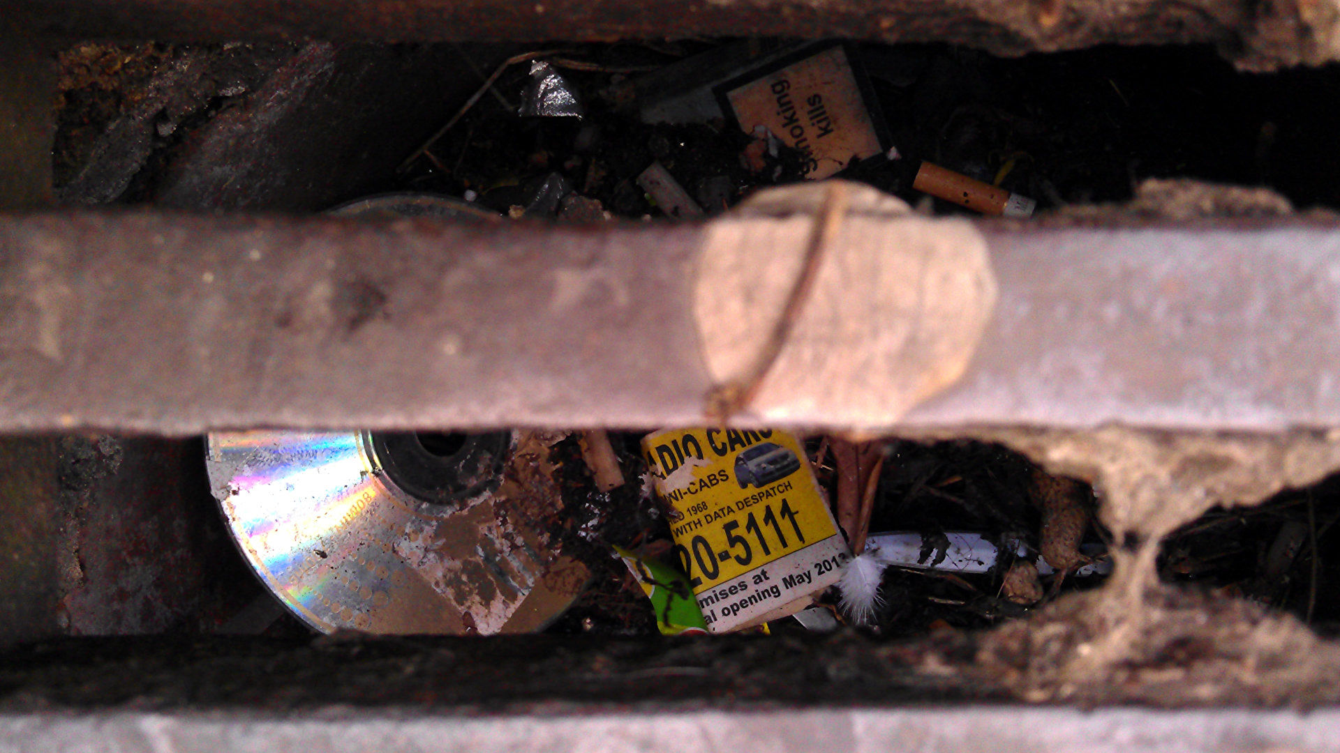 I kinda miss finding random CD-Rs in the gutter