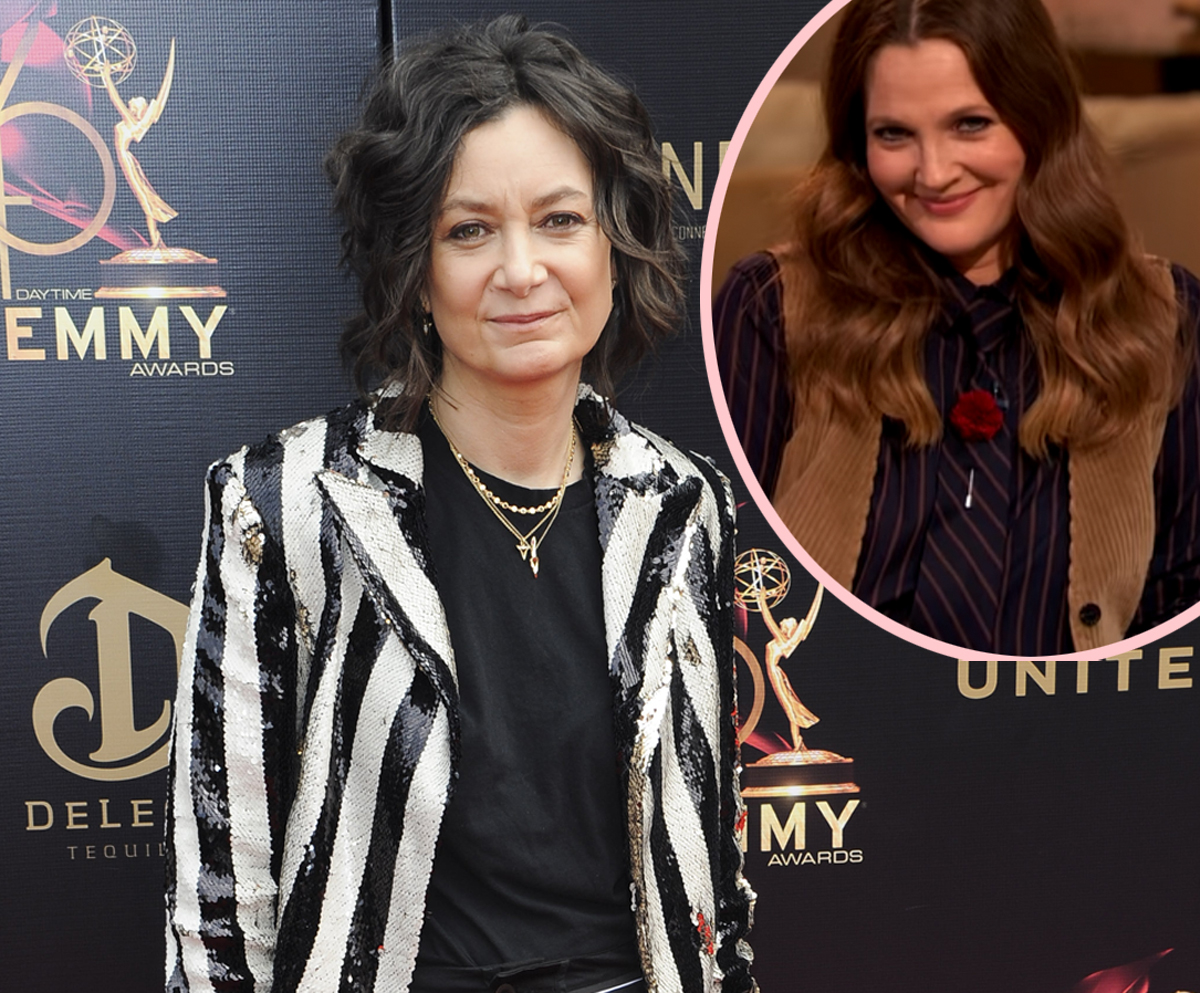 Sara Gilbert Reveals First Girl Kiss Was With Drew Barrymore!