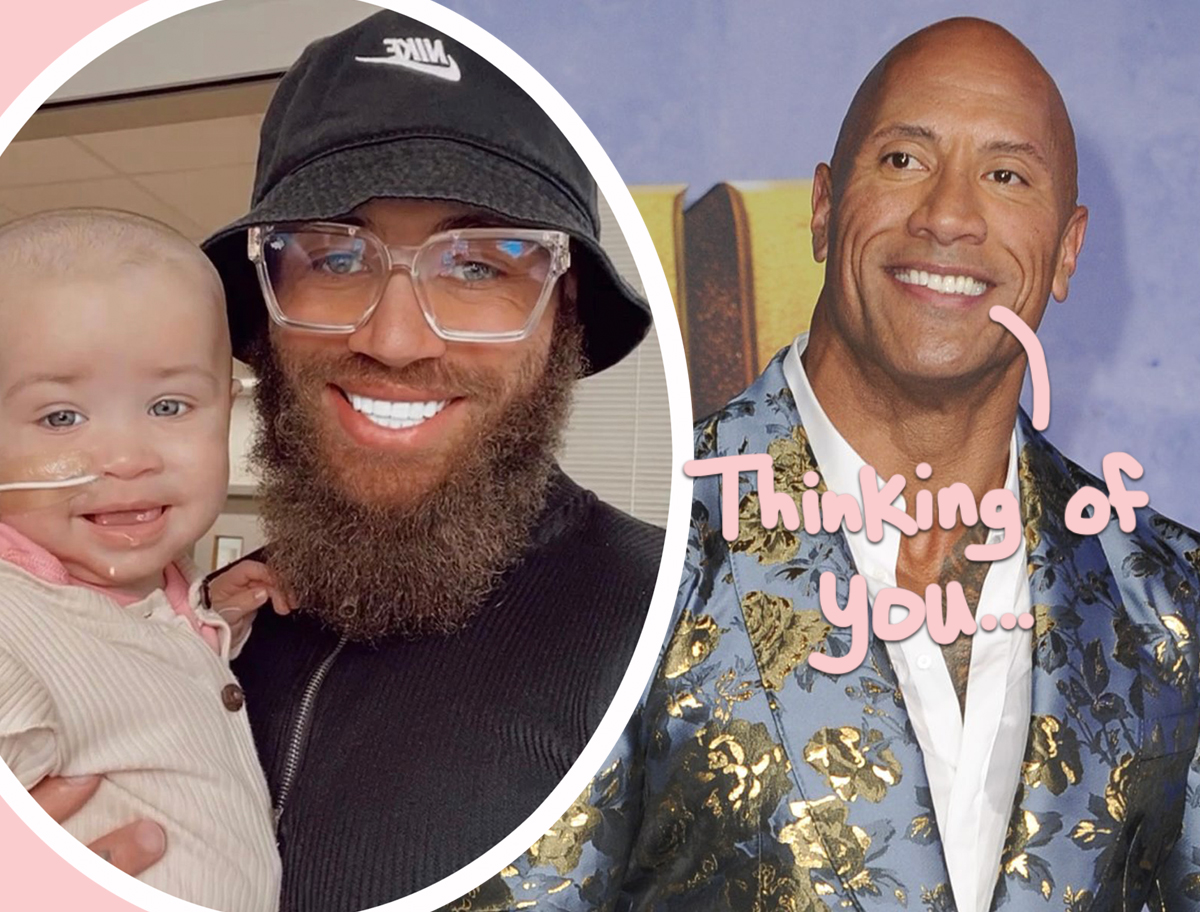 Dwayne 'The Rock' Johnson Shares Heartfelt Video Of Support To Ashley Cain Amid Daughter's Cancer Battle