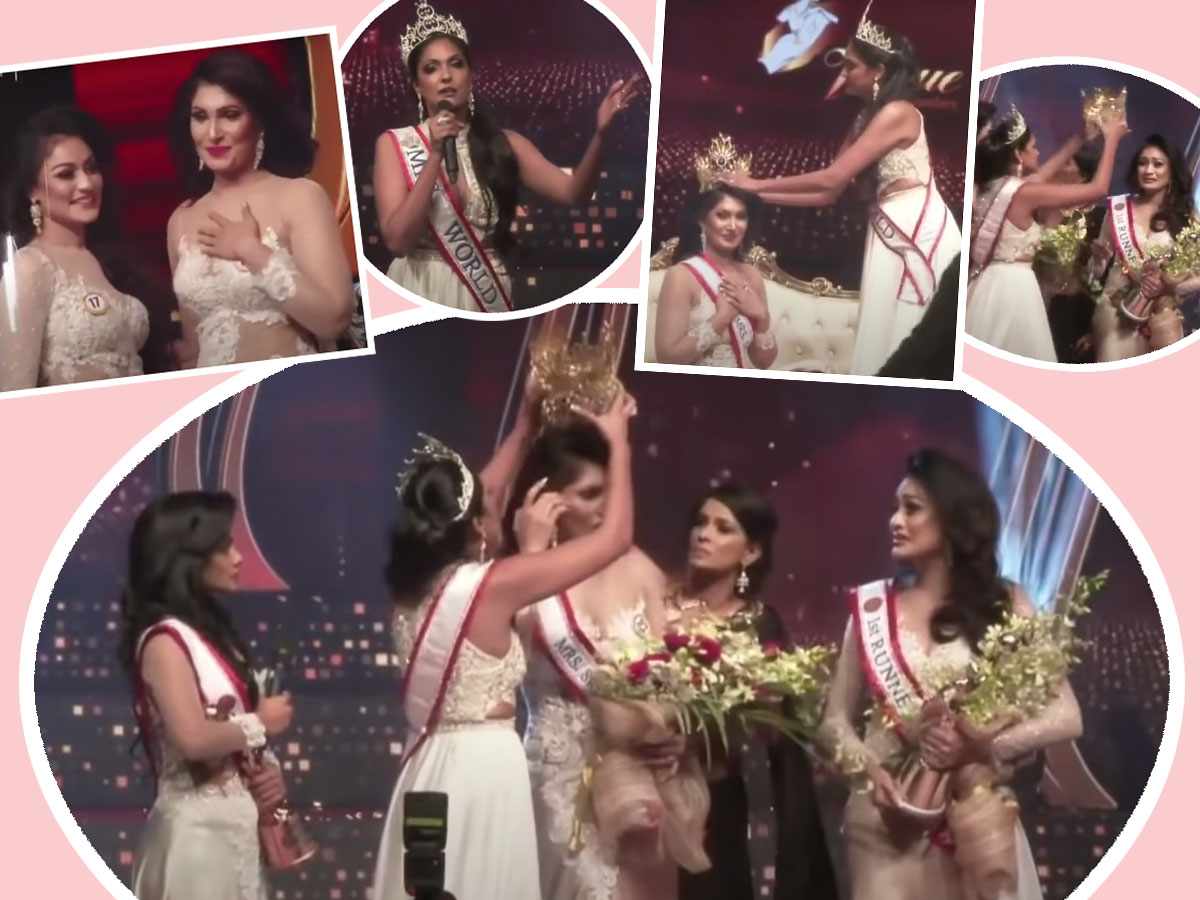 Watch Mrs World SNATCH Mrs Sri Lanka's Crown Just Moments After Win -- Over Accusation She's Divorced!