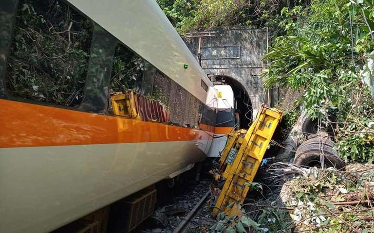 The%20truck%20driver%20who%20caused%20a%20deadly%20train%20accident%20in%20Taiwan%20has%20apologized.