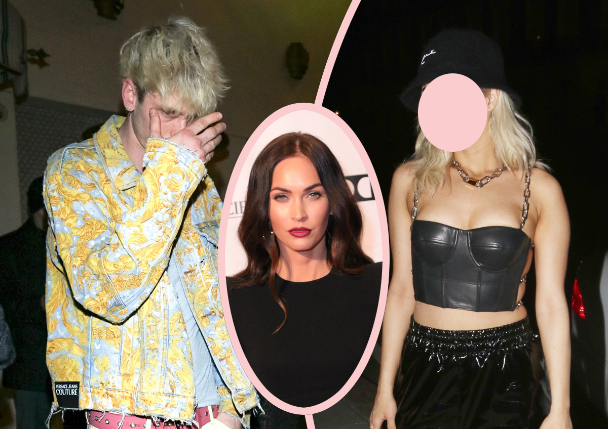 Machine Gun Kelly Spotted Sneaking Out Of Nightclub With Mystery Blonde! Should Megan Fox Be Worried??