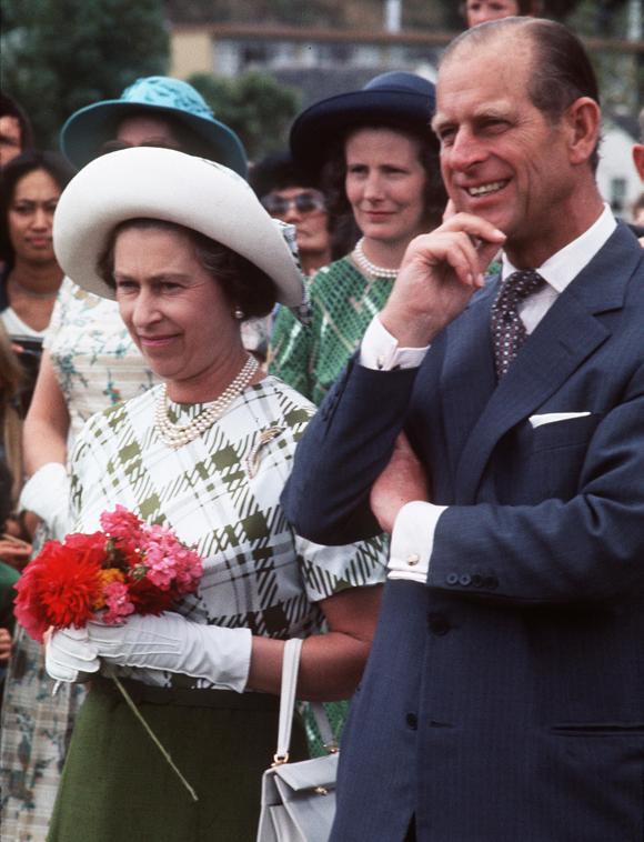 Prince Philip and Queen Elizabeth during the Silver Jubilee tour in 1977