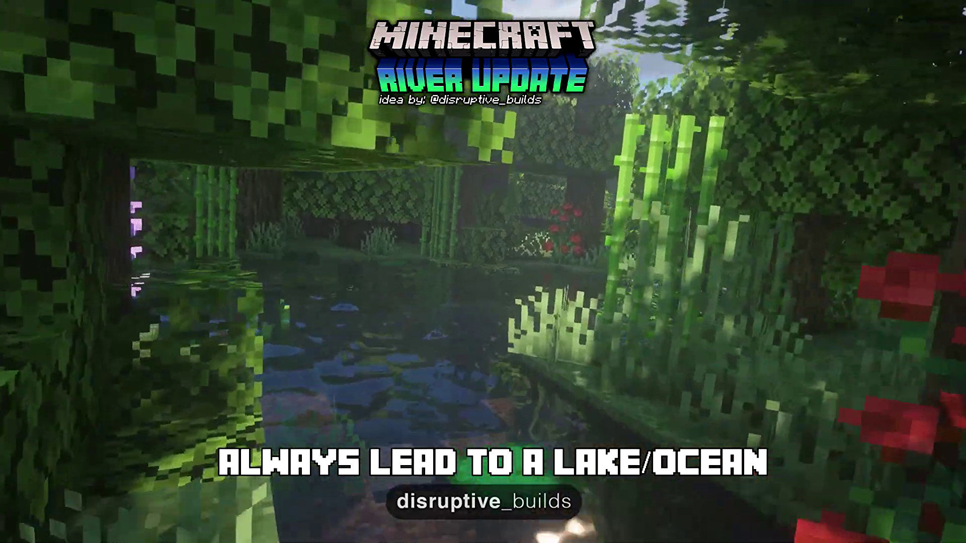 This Minecraft fan's concept video for a 'River Update' is cool
