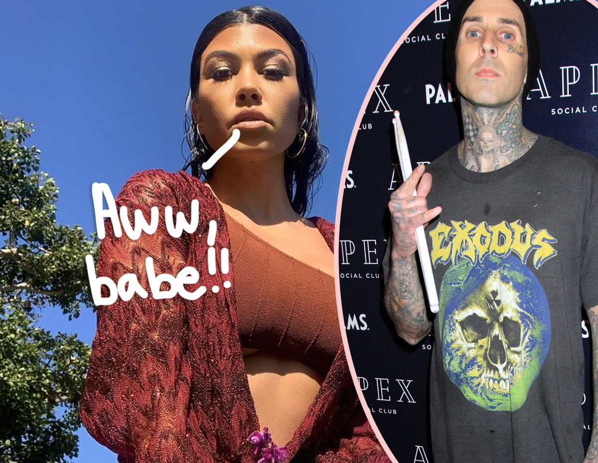 Travis Barker Sends Kourtney Kardashian Some LAVISH Flower Arrangements For Her Birthday!