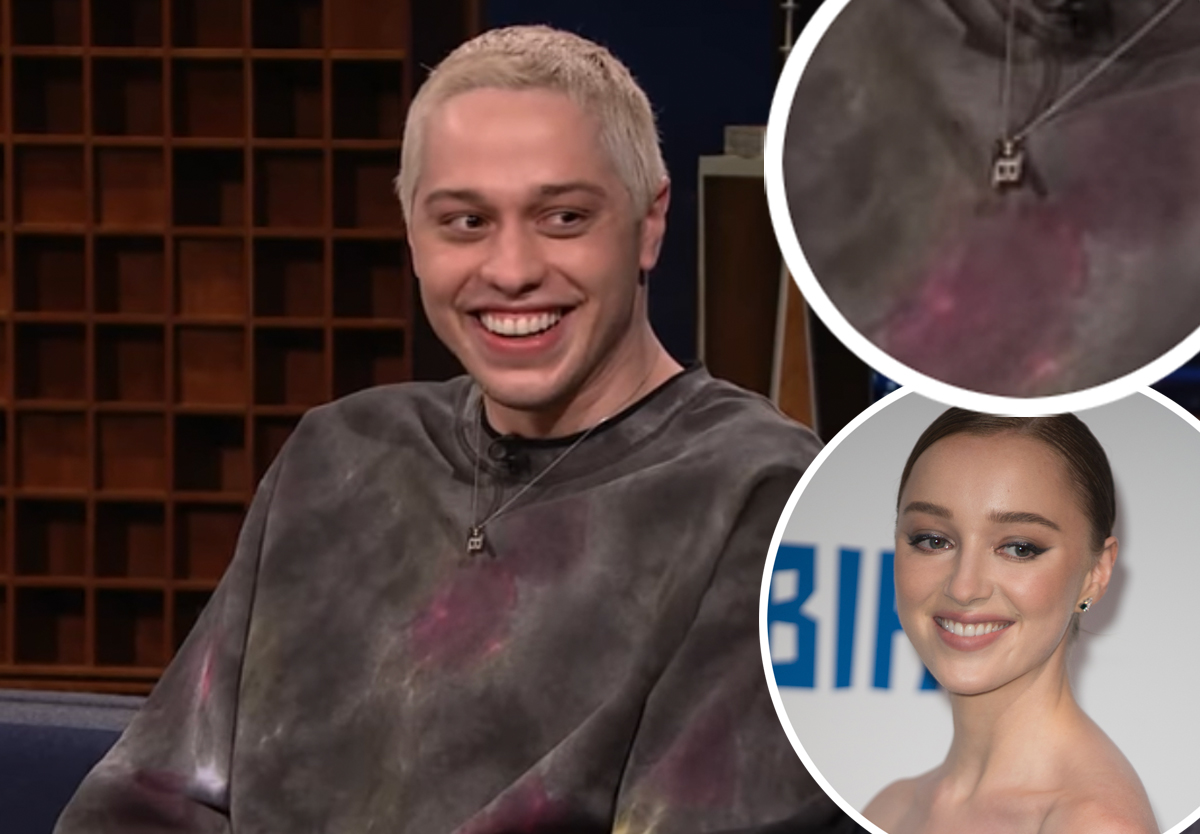 Wait, Did Pete Davidson Wear A Necklace Of Phoebe Dynevor's Initials On Fallon?!