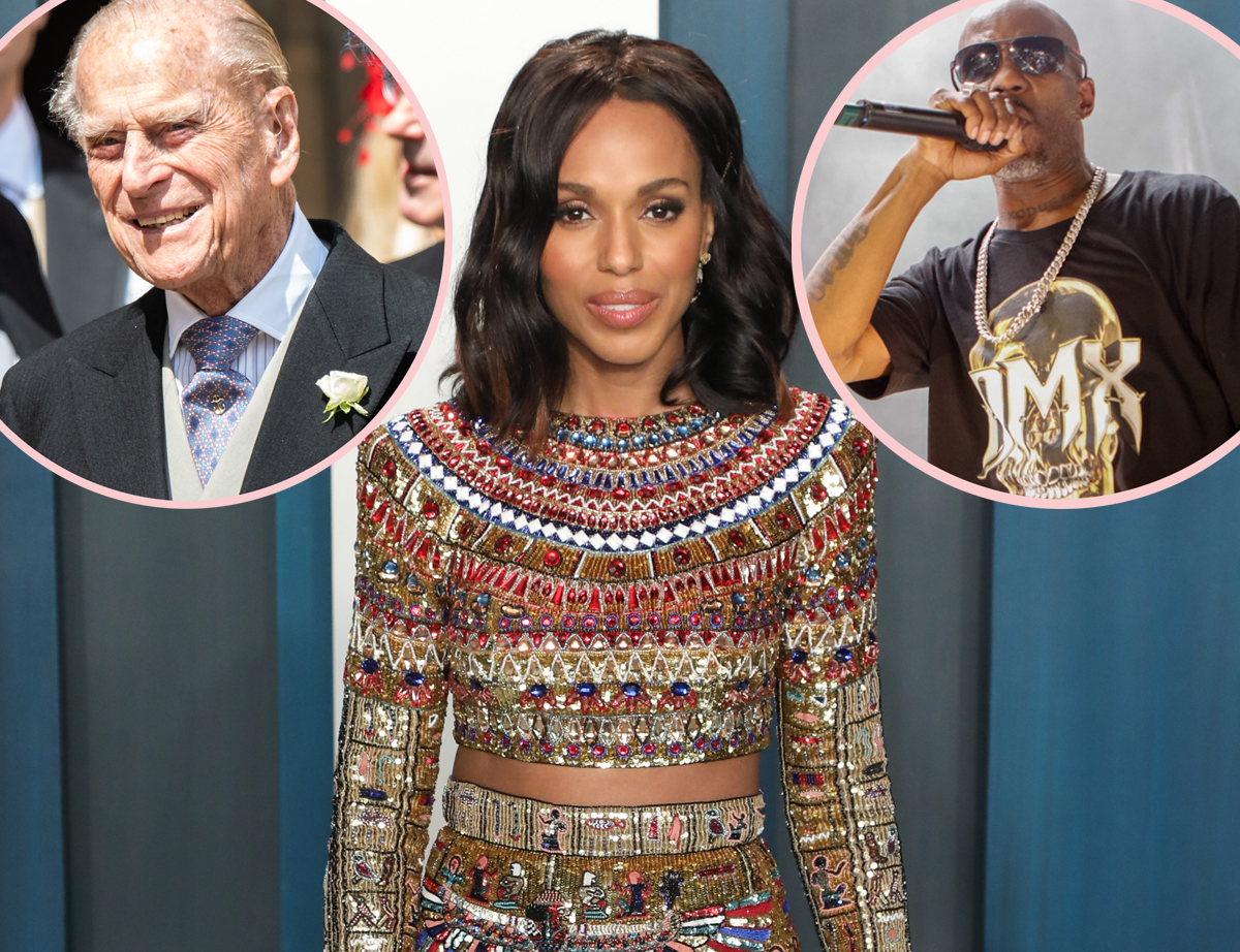 Kerry Washington Deletes Controversial Tweet About DMX & Prince Philip's Deaths After Receiving Backlash