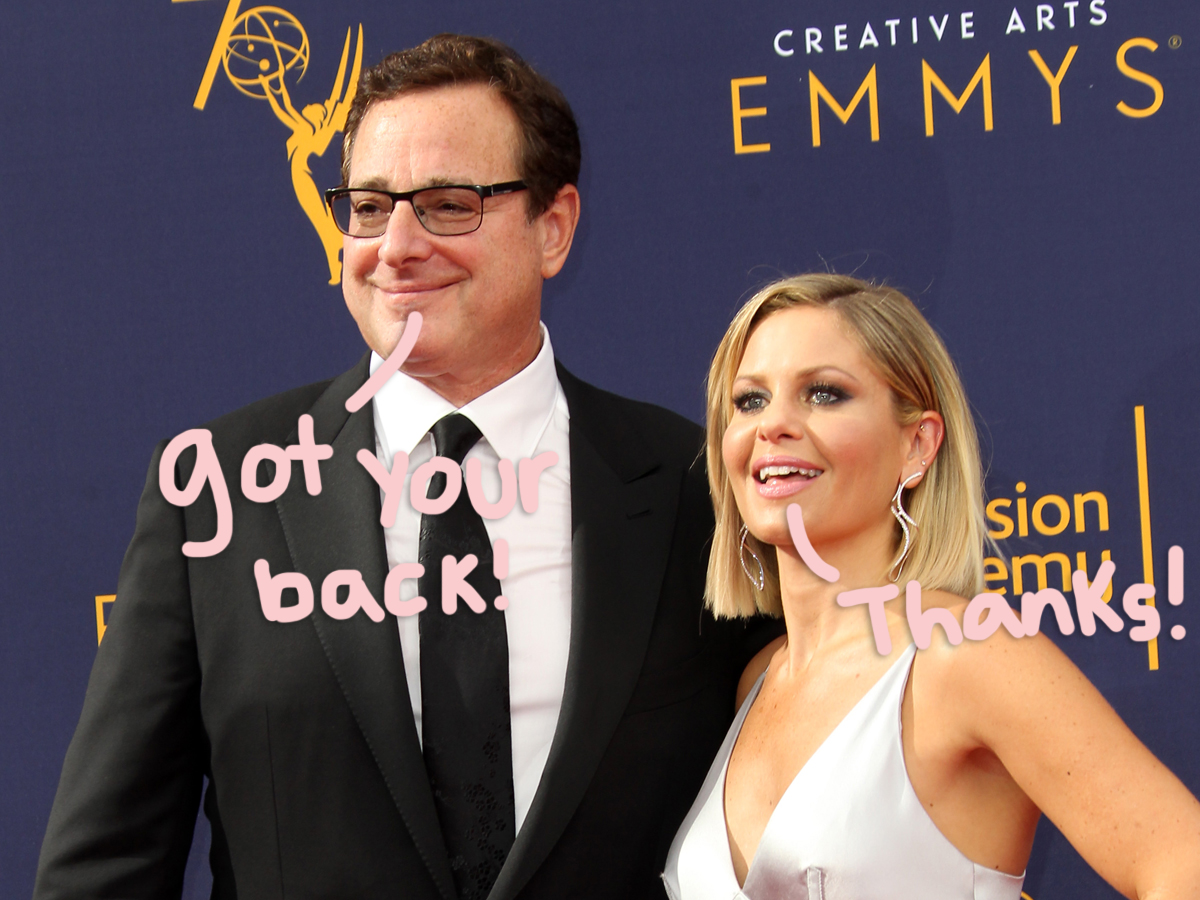 Bob Saget Defends TV Daughter Candace Cameron Bure Against Haters Calling Her Personality 'Fake'