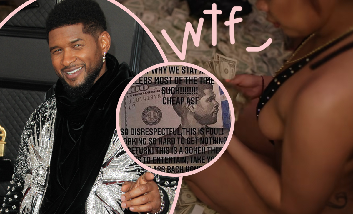 Usher Accused Of Paying Strippers With FAKE Money — With His Face On It!