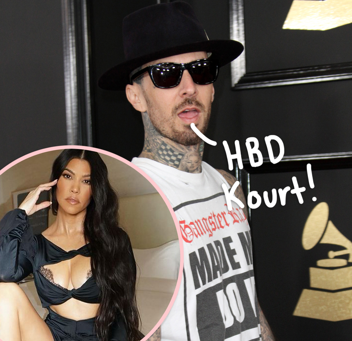 Travis Barker Shares A NSFW Birthday Tribute For Kourtney Kardashian — LOOK!