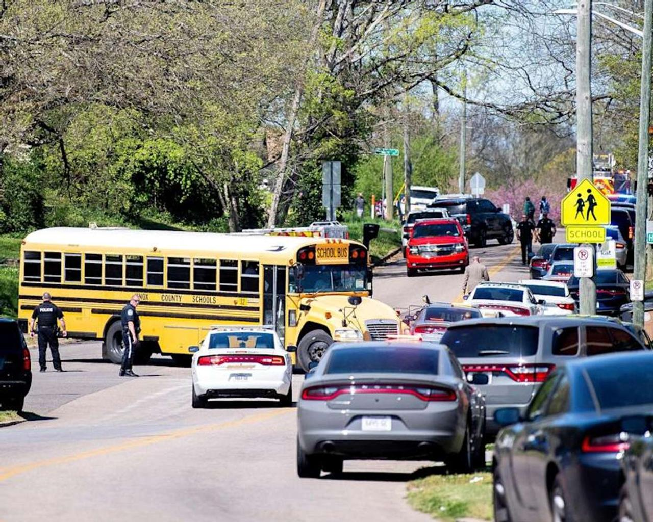 One student dead, officer injured after gunfire erupts at high school in Knoxville, Tennessee