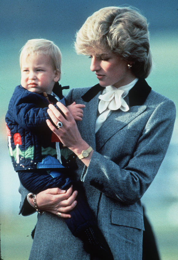 Princess Diana with young William